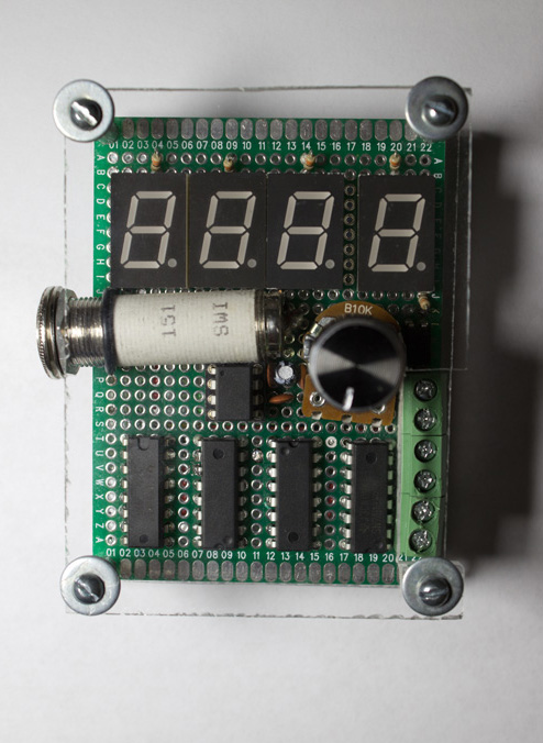 Front view of the flash trigger device